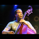 Stanley Clarke playing upright bass